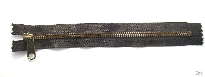金属ファスナー・アンティック・ムシの幅5mm・9本以下・21cm~30cm (品番05317-30)