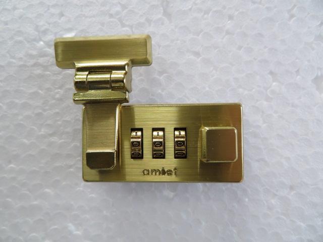 スイス製 横引錠 ナンバーロック アミエット (品番01100)